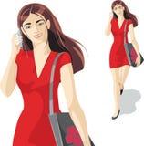 Menina no vermelho Fotos de Stock