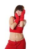 Menina no vermelho Foto de Stock Royalty Free