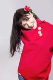 Menina no vermelho Foto de Stock
