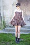Menina no vestido Foto de Stock