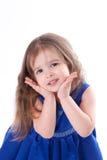 Menina no vestido azul Fotografia de Stock Royalty Free