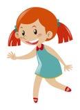 Menina no vestido azul Imagens de Stock