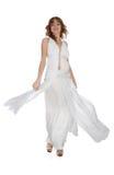 Menina no vestido branco foto de stock