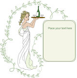 Menina no vestido branco ilustração royalty free