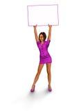 Menina no vestido cor-de-rosa Imagem de Stock Royalty Free