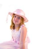 Menina no vestido cor-de-rosa fotos de stock