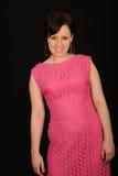 Menina no vestido cor-de-rosa Foto de Stock Royalty Free