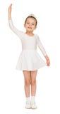 Menina no vestido de bola branco fotos de stock royalty free