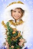 Menina no vestido de uma donzela da neve Fotos de Stock