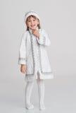 Menina no vestido extravagante Fotografia de Stock Royalty Free