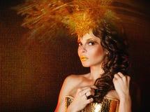 Menina no vestido extravagante Imagens de Stock