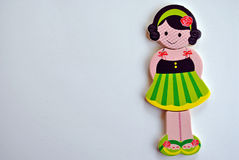 Menina no vestido listrado verde Imagem de Stock Royalty Free
