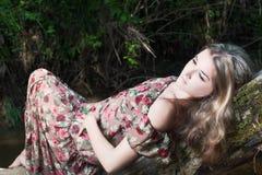Menina no vestido nacional Imagem de Stock Royalty Free
