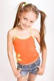 Menina no vestido ocasional Fotografia de Stock