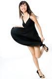 Menina no vestido preto Imagens de Stock Royalty Free