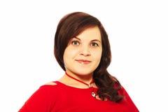 Menina no vestido vermelho Fotos de Stock Royalty Free