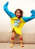 Menina nos pijamas imagens de stock