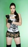 A menina nos shorts Imagens de Stock Royalty Free