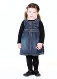 Menina nova da criança com amuo Fotos de Stock Royalty Free