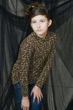 Menina nova da forma com composição especial Fotografia de Stock Royalty Free