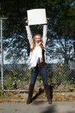Menina nova do ecólogo fotografia de stock