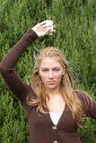 Menina nova do ecólogo fotografia de stock royalty free