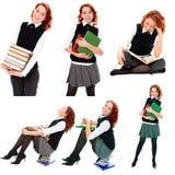 Menina nova do estudante da beleza imagens de stock royalty free