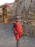 Menina nova do Masai imagem de stock