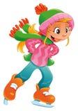 Menina nova do skater de gelo. Fotografia de Stock Royalty Free