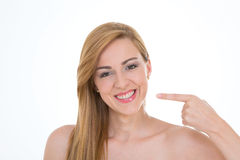 Menina nova e feliz Imagem de Stock Royalty Free