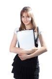 Menina o estudante com originais Imagens de Stock