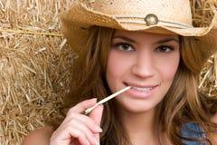 Menina ocidental do país imagens de stock