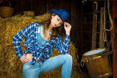 Menina ocidental selvagem Fotografia de Stock Royalty Free