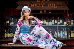Menina ocidental selvagem Imagem de Stock Royalty Free