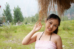 Menina oriental doce Imagem de Stock Royalty Free