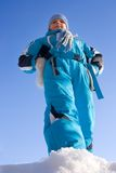 Menina ostentando do inverno Fotografia de Stock Royalty Free