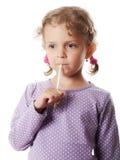 Menina pensativa Foto de Stock Royalty Free