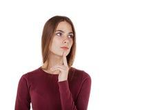 Menina pensativa Imagem de Stock