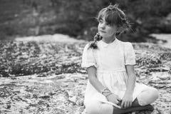Menina pensativa do vintage Imagens de Stock