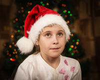 Menina pensativa pequena bonito Imagem de Stock Royalty Free