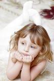 Menina pequena agradável Imagem de Stock