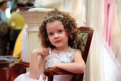 Menina pequena, bonita. imagem de stock royalty free