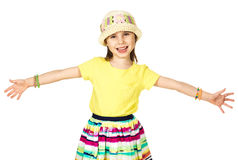 Menina pequena bonito da forma no verão colorido Fotografia de Stock Royalty Free