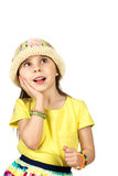 Menina pequena bonito da forma no verão colorido Fotografia de Stock
