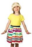 Menina pequena bonito da forma no verão colorido Imagens de Stock Royalty Free