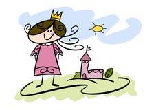 Menina pequena da princesa Fotos de Stock Royalty Free