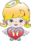 Menina pequena do anjo Fotografia de Stock