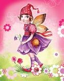 Menina pequena do duende Imagem de Stock
