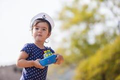 Menina pequena do marinheiro Imagem de Stock