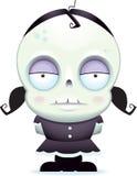 Menina pequena do zombi ilustração royalty free